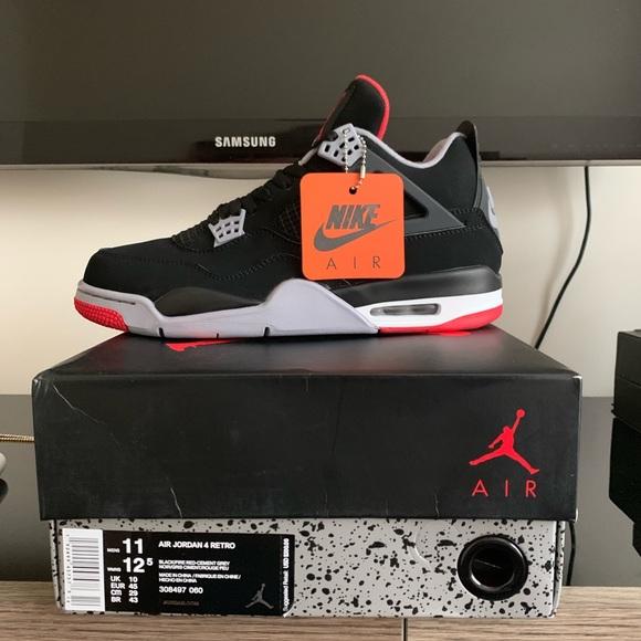 3bbd48ef05ad8 Jordan Shoes | Air 4 Bred 2019 Sz 11 | Poshmark